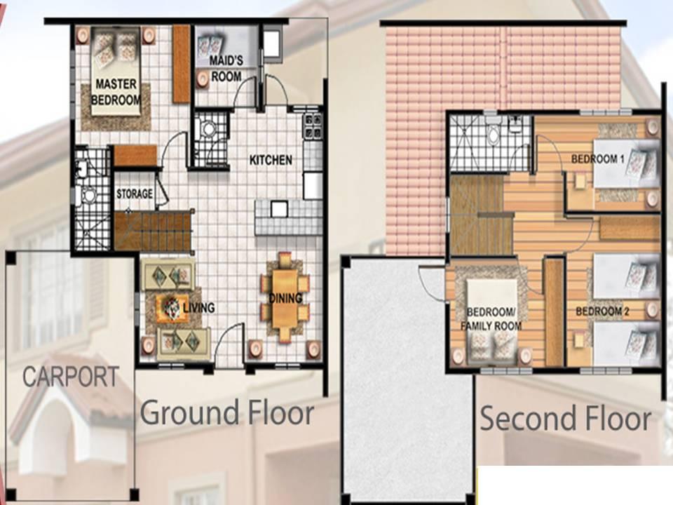 Camella Homes Design With Floor Plan Elaisa Model Camella Homes Tarlac